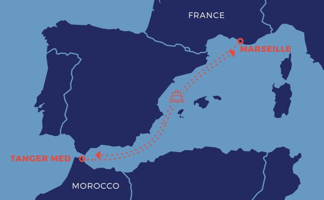 France - Morocco : Marseille-Tanger a cargo sea links