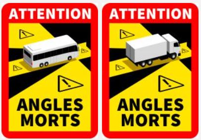 Vente - Signalisation angles morts / Buy - Blind spots warning signage